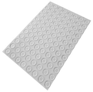 96 Clear Self Adhesive Flat Bumpers, Rubber Feet for Coasters, Furniture & Glass