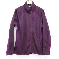 New The North Face Womens Arcata Purple Stretch Fleece Full Zip Active Jacket XL