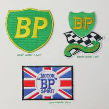 """BP"" BRITISH PETROLEUM Race Sponsorship Jacket Patch Set - Set of THREE Patches"