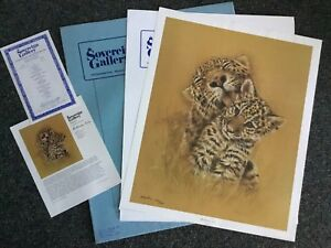 """CHARLYN MOORE 1978 """"MOTHERLY LOVE"""" JAGUAR SN Lithograph:  30"""" Realism/dealer NIF"""