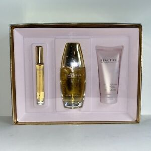 Estee Lauder BEAUTIFUL Romantic Favorites 3 Pcs Gift Set - NIB 2.5oz each