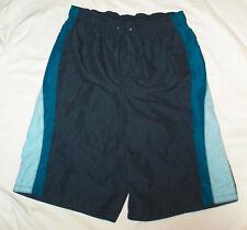 New Boys Size XL / 18 - 20 Blue Swimming Swim Trunks Shorts Swim Suit