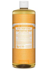 Dr Bronner Citrus Castile Liquid  Body Soap - 946ml