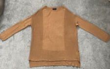 Topshop Womens Jumper Pullover Boxy Sweater Size UK 6 Beige Tan Brown Fine Knit