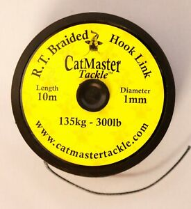CatMaster Tackle R.T. Braided Cat Leader(Black) 300lb