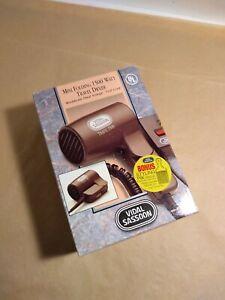 Vidal Sassoon 1500Watt Travel Hair Dryer Foldable handle Brown New