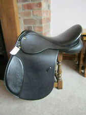"Black 18"" English Leather GP Saddle - Medium Fit -  Ex Demo- CLEARANCE"