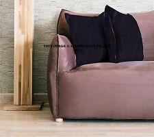 Solid Velvet Sofa Couch Pillow Cushion Throw Cover Bohemian Indian Boho Decor