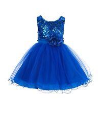 Wedding Glitter Sequin Tulle Flower girl Dress Toddler Bridal Easter Summer 011s