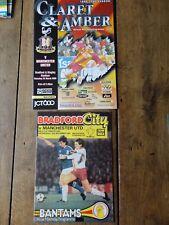 MAN Utd MANCHESTER UTD BRADFORD CITY 1982 2000 football programme