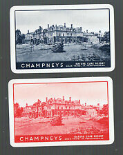 Playing Swap Cards 2 VINT CHAMPNEYS  NATURE  CURE  RESORT  TRING  HERTS U.K. W37