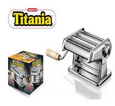 Macchina per pasta sfogliatrice manuale imperia titania in acciaio cromato