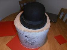 Vintage 1950s Lock & Co Town Coke/Bowler Hat Size 6 7/8