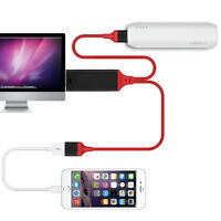 For iPhone/iPad/Android/Samsung HDMI Mirroring Cable AV HDTV Phone to TV Adapter