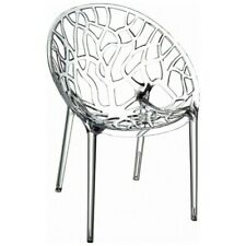 Compamia Crystal Polycarbonate Modern Dining Chair, Transparent - ISP052-TCL