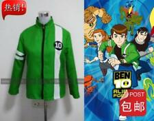 Ben 10 Ben Tennyson Green Coat Jacket Halloween Cosplay Costume Unisex Custom