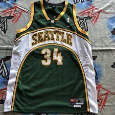 Seattle Supersonics Ray Allen Jersey Men's Large +2 Green NBA Nike Team VTG