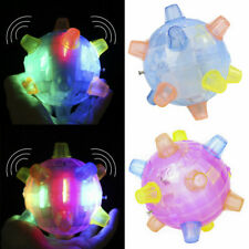 1X Jumping Flashing Dog Ball LED Pet Cat Toys Joggle Vibrating Changing Color