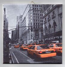 Dekofliese Keramikfliese Wandbild Bildfliese Geschenkidee New York Taxi (093DP)