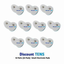 TENS Small Snap On Electrode Pads, 10 Pairs (20 Pads)