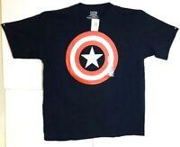 Marvel Captain America Dark Blue Tee Shirt 100% Cotton Men's/Women's Size XL NWT