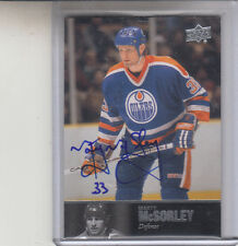 "2011-12 UPPER DECK ULTIMATE LEGENDS MARTY MCSORLEY ""OILERS"" AUTOGRAPH AUTO"