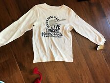 NEW Carter's Off-White Rock Star Long Sleeve Shirt in Boys Size 7