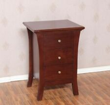 Art Deco Style Small Chest Solid Mahogany 3 Drawer Bedside Table H70 W50 D42cm