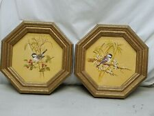 """Home Interior Homco""""Set of Two"""" Vintage Beautiful Bird Pictures"""