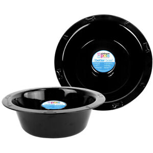Platinum Pets Wide Rimmed Bowl Black 6.25 Cup 60oz