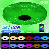 LED Ceiling Light 256 Colors RGB bluetooth Music Speaker Dimmable Lamp APP Light