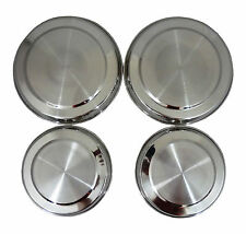 Set of 4 Stainless Steel Hob Cover/Lid/Protector/Cooker Cover Set