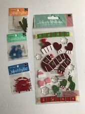jolee's boutique lot Christmas, crab, veggie, flower scrapbooking stickers