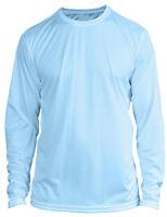 Microfiber Long Sleeve Fishing Shirt UPF 50 Arctic BLUE - N/G