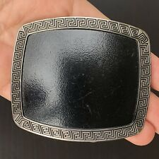 Plain Belt Buckle Milano Western Cowboy Silver Black Skull Long HIGH QUALITY
