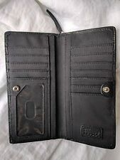 SALE - Fossil black wallet very soft leather ladies clutch wallet zipper EUC