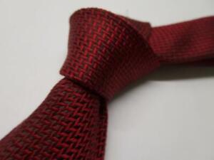 ROSI & GHEZZI elegant muted 7-fold tie embroidered silk Charvet D40