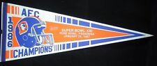 1986 Denver Broncos Super Bowl XXI Pennant AFC Champions Rose Bowl