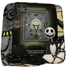 The Nightmare Before Christmas Jack Skellington  Super Plush  Throw Blanket New