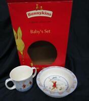 Royal Doulton Bunnykins Baby's Shining Stars 2 Pc Set Baby Plate Dish & Mug NEW
