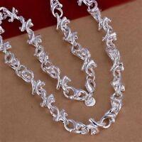 ASAMO Damen Herren Halskette 925 Sterling Silber plattiert Kette HA1112