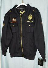 Royal Republic Men's Fleece Full Zip Jacket Sz XL Pockets Embroidered NWT 230N