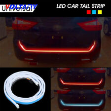 "47"" 3 Color LED Strip Car For Rear Trunk Tailgate Brake Turn Signal Light 12V"