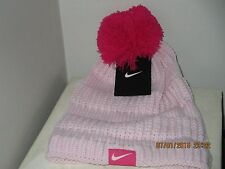 Nike  Beanie Winter Pom Hat in Pink  -Girls Size 7 - 16  Free Shipping   New