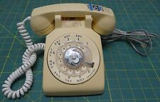 Vintage ITT Rotary Dial Telephone Beige/Almond/Cream/Off-White