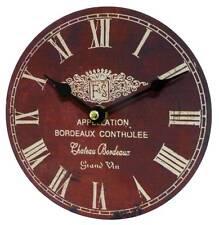 style ancienne petite horloge pendule de charme de cuisine salon murale bordeaux