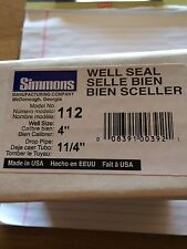 "Simmons sanitary water well seal  4""x1/14"" submersible pump"