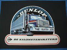 Rare vintage 1970's large  Dunlop truck tires Globetrotter Volvo decal  10 X 8