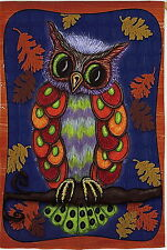 "NEW EVERGREEN GARDEN FLAG COLORFUL ADORABLE OWL 12.5"" X 18"" - GREAT FOR AUTUMN"