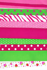 Strawberry 40 yards 2 yd each 20 different grosgrain ribbon 1-1/2 - 1/4 Pink lot